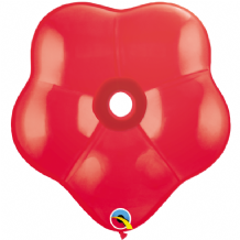 Red Geo Blossom Balloons - (16 Inch) Qualatex 5pcs